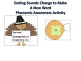 A Bundle of Thanksgiving Literacy and Math Centers Hands O