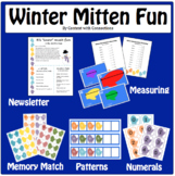 A Bundle of Winter Mitten Fun: Measurement, Math Activities, and A Newsletter