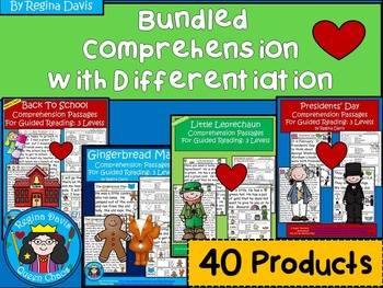 A+ Bundled Comprehension Passages For Guided Reading: Diff