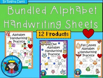 A+ Bundled Alphabet Handwriting Practice
