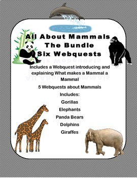 Marvelous Mammals Bundle - A Set Of Webquest Lessons