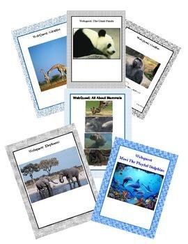 Marvelous Mammals Bundle - A Set Of Webquest Lessons