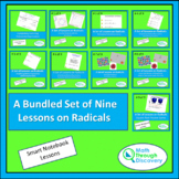 Algebra 1 - A Bundled Set of Nine Lessons on Radicals