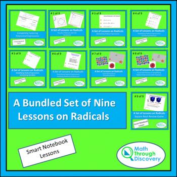 Algebra I:  A Bundled Set of Nine Lessons on Radicals