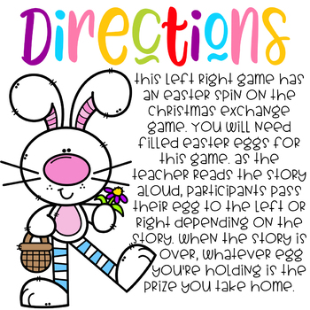 A bunny tale left right game by oh so random tpt a bunny tale left right game negle Choice Image