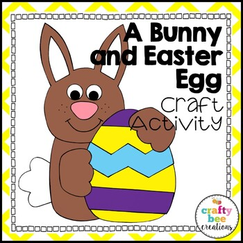 A Bunny and Easter Egg Cut and Paste
