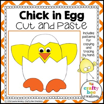 Chick in Egg Cut and Paste