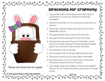 Easter Bunny Craft {A Bunny and a Basket}