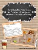 A Bushel of Apples File Folder Game (-el and -le endings)