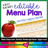 A Busy Teacher's Editable Menu Plan ... organized planning & less stress!