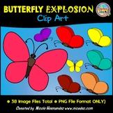 Butterfly Explosion Clip Art Set For Teachers