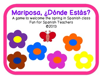 A Butterfly Game to Welcome Spring in Spanish Class {Freebie}