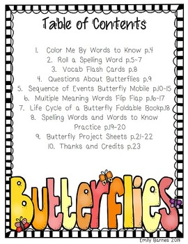 A Butterfly Grows Journeys 1st Grade Supplement Activities Lesson 24