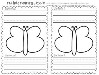 A Butterfly Grows Literacy Stations