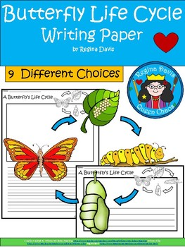 A+ Butterfly Life Cycle ... Writing Paper