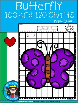 A+ Butterfly: Numbers 100 and 120 Chart