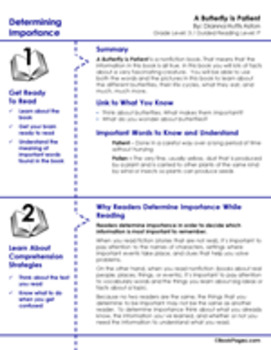 A Butterfly is Patient Lesson Plans & Activities Package, Third Grade (CCSS)