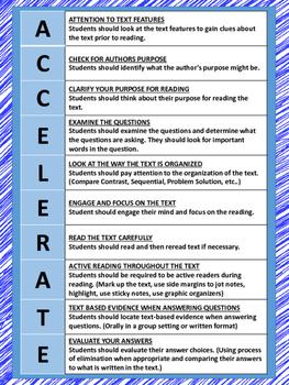 A.C.C.E.L.E.R.A.T.E Reading Posters-Green