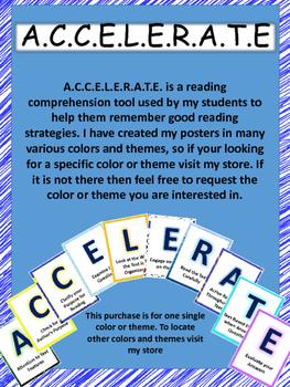 A.C.C.E.L.E.R.A.T.E Reading Posters-Orange