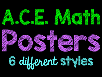 A.C.E. Answering Math Questions Posters