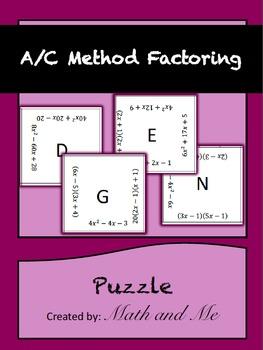 A/C Method Factoring Puzzle