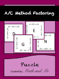 A/C Method Factoring Puzzle