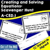 A-CED.1 Writing and Solving Equations Scavenger Hunt