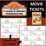 A CHARLIE BROWN THANKSGIVING Movie Film Entrance & Exit Ti