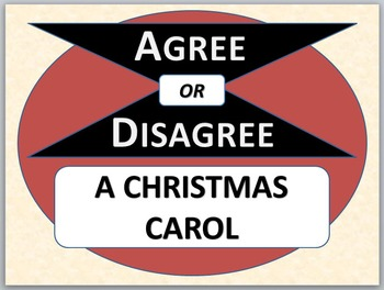 A CHRISTMAS CAROL - Agree or Disagree Pre-reading Activity