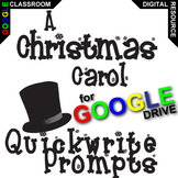 A CHRISTMAS CAROL Journal - Quickwrite Writing Prompts (Cr