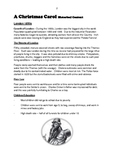 A CHRISTMAS CAROL:  Questions, backgrounds, vocabulary worksheets