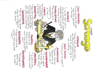 A CHRISTMAS CAROL Quotes SCROOGE Poster GCSE Revision by WEZ CARTOONS