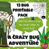 A CRAZY BUG ADVENTURE – 13 PRINTABLES PACK