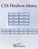 A CSS Flexbox Menu