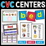 CVC Words | Small Group or Center Activities | Real and No