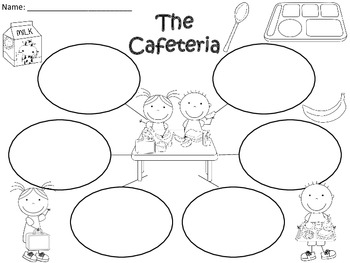 A+  Cafeteria ... Three Graphic Organizers