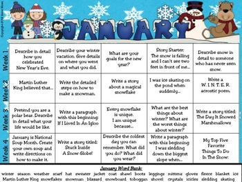 ✏️Writing ~ A Calendar Year Of Writing Mega Unit ~ 12 Writing Prompt Calendars
