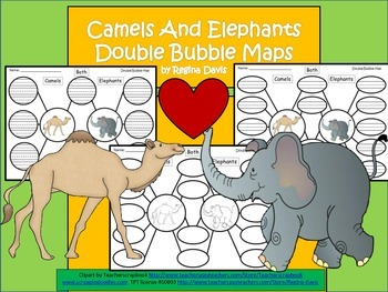 A+ Camels & Elephants Double Bubble: Compare and Contrast