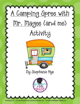 A Camping Spree with Mr. Magee (and me) Activity