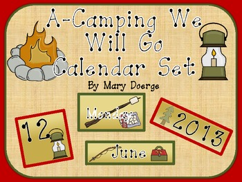 A-Camping We Will Go Calendar Set
