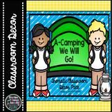 Camping Classroom Decor Pack | Woodland Animals, Chalkboar