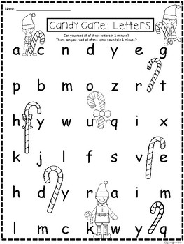 A+ Candy Cane: CVC Words And Letter Reading Practice