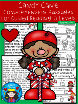 A+ Candy Cane Comprehension:Differentiated Instruction For Guided Reading