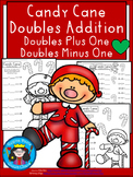 A+ Candy Cane Doubles Addition: Doubles Plus One, Doubles Minus 1