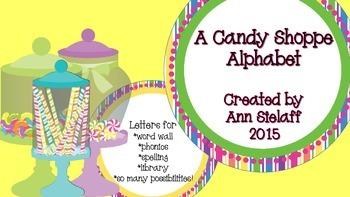 A Candy Shoppe Alphabet Freebie