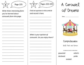 A Carousel of Dreams Trifold - Treasures 3rd Grade Unit 5