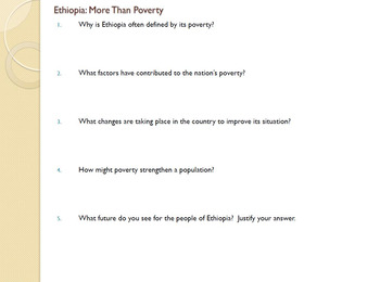A Case Study on Ethiopia Reading Handout & Questions