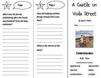 A Castle on Viola Street Trifold - Treasures 3rd Grade Unit 2 Week 5 (2011)