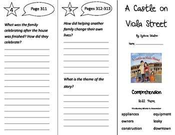 A Castle on Viola Street Trifold - Treasures 3rd Grade Unit 6 Week 1 (2009)