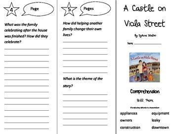 A Castle on Viola Street Trifold - Treasures 3rd Grade Unit 6 Week 1 (2009)